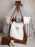 Комплект для круглой-овальной/стандартной кровати Patrino VERSENTO шоколад