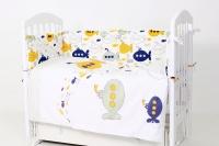 Комплект белья в кроватку Топотушки Морской бой 6 предметов 606